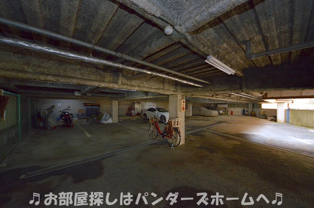 屋根付き駐車場。平置き駐車場も有。