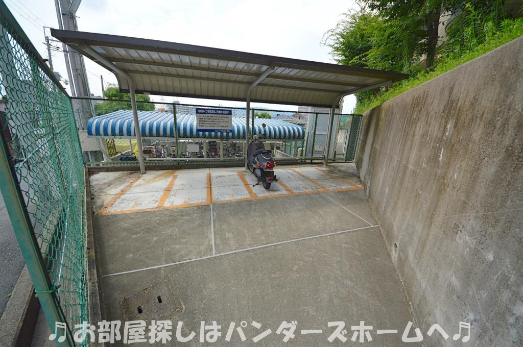 バイク置場500円/月額